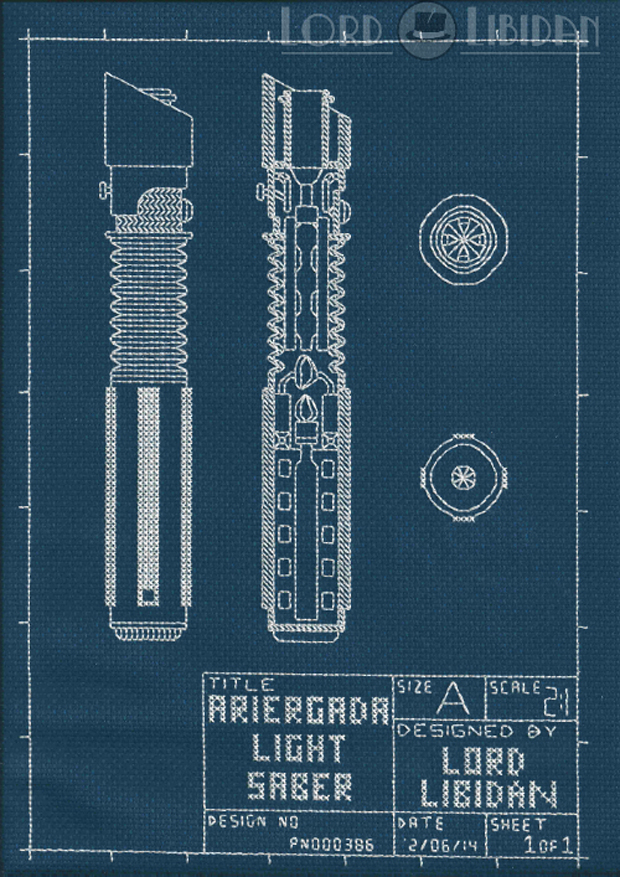 lightsaber cross stitch by lord libidan