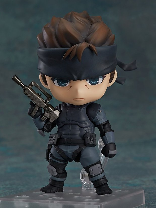 metal gear solid snake nendoroid action figure by good smile 2
