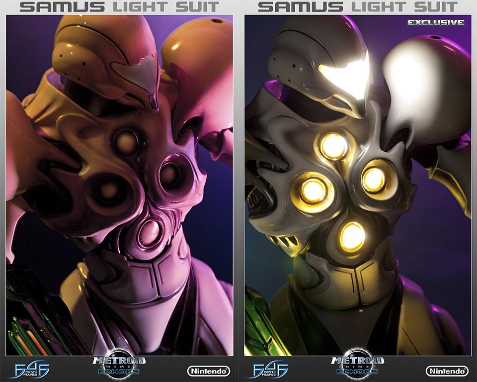 Metroid Samus Light Suit Statuette Will Lighten Your