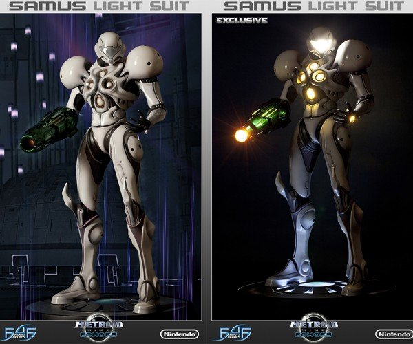 Metroid Samus Light Suit Statuette Will Lighten Your Wallet
