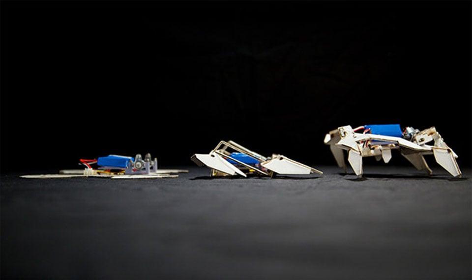 Robot Folds Itself into a Usable Form and Walks Away - Technabob