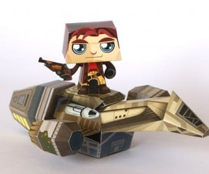 Papercraft Serenity from QMx: Paperenity
