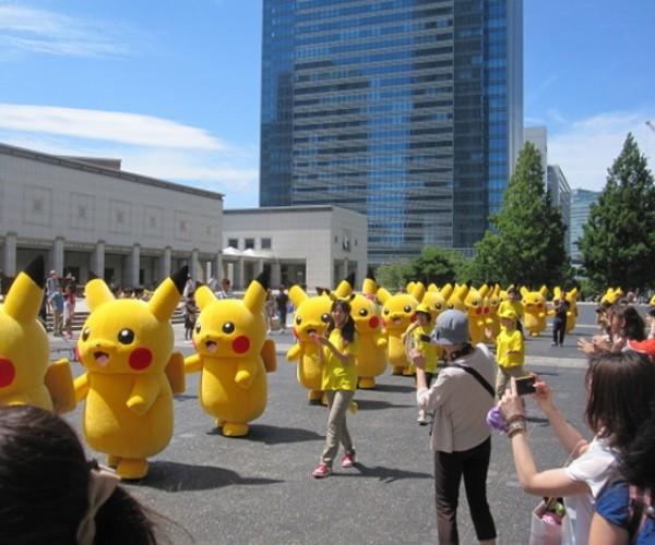 An Army of Pikachu Invade Yokohama