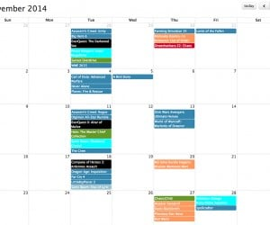 Video Game Release Date Calendar: Play Date