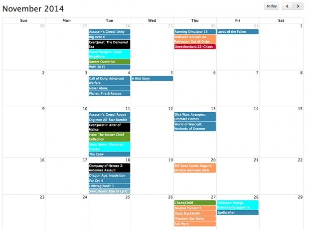 play date video game release date calendar by chris gregori 620x463