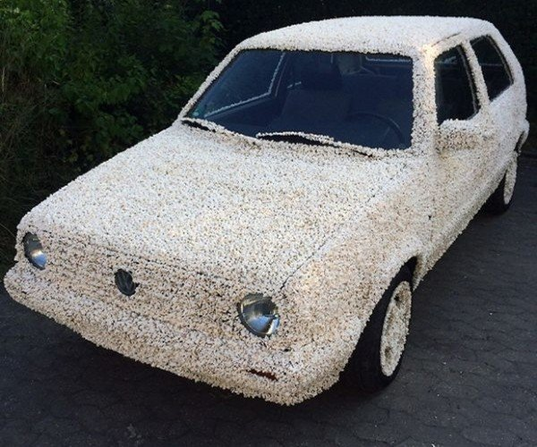 Orville Redenbacher I Presume: Popcorn Covered Volkswagen