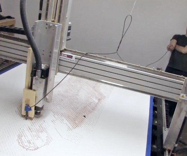 Robot Drinks Creator's Blood, Then Uses It to Draw His Picture