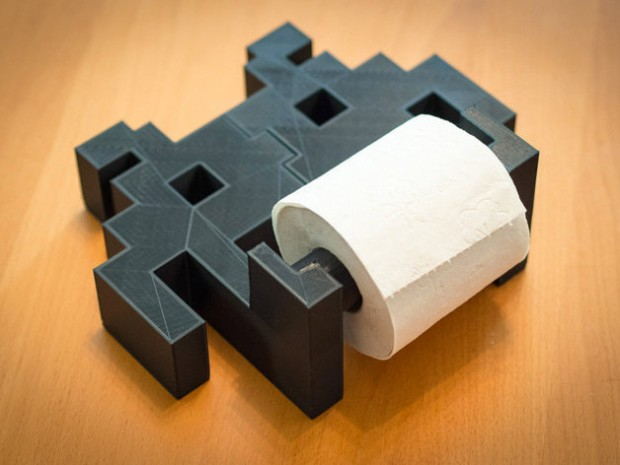 Space Invader Toilet Paper Holder from TheTajMahalo