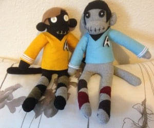 Kirk and Spock Sock Monkeys: Where No Foot Has Gone Before