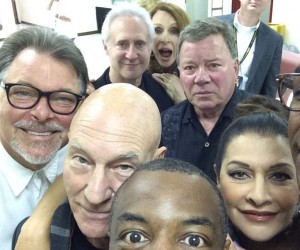 Star Trek: The Next Generation Cast Selfie Photobombed by Kirk