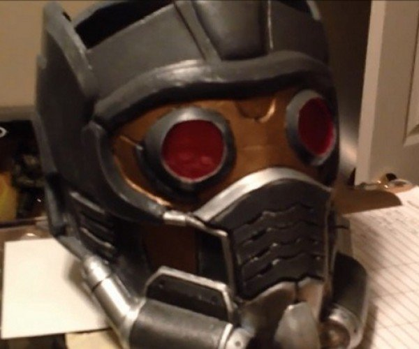 Awesome Star-Lord Helmet and Gun: O-o-h Child, I Want One.