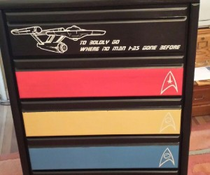 Star Trek Dresser Boldly Holds Your Clothing