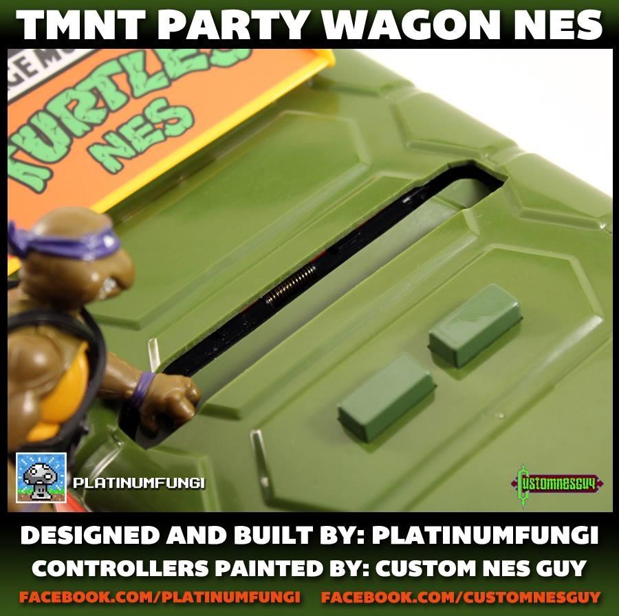 NES Crammed Inside TMNT Party Wagon: Teenage Mutant