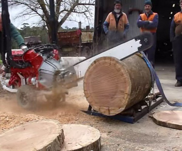A Chainsaw Powered by a V8 Engine