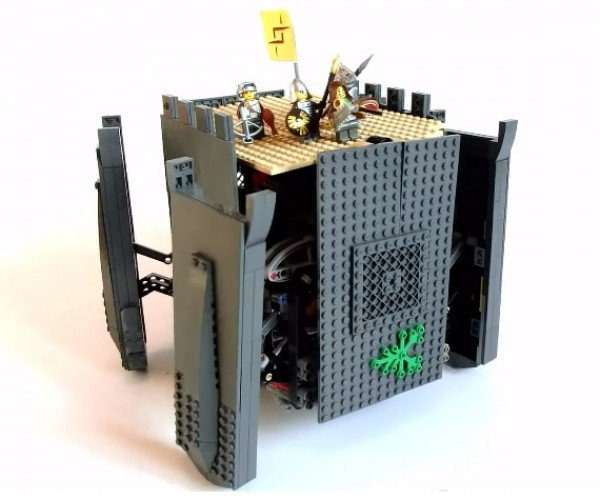 This LEGO Castle Turns into a Walking Robot