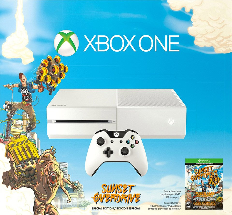 Xbox One Call of Duty: Advanced Warfare and Sunset Overdrive White Bundles - Technabob