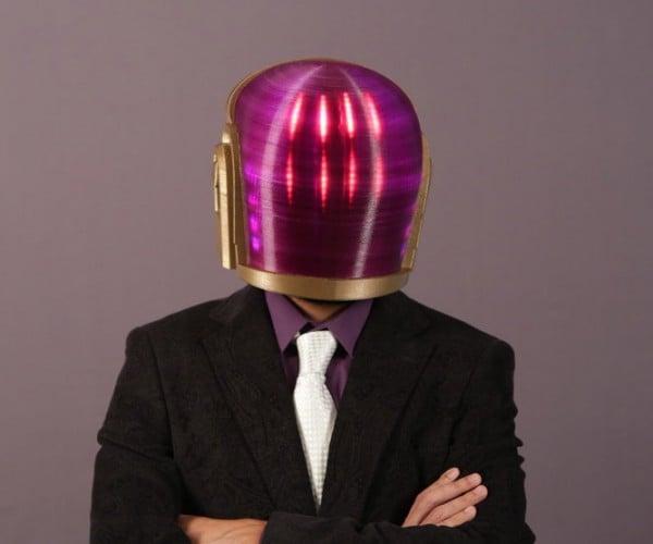 3D Printed Daft Punk Helmet: Plastic After All