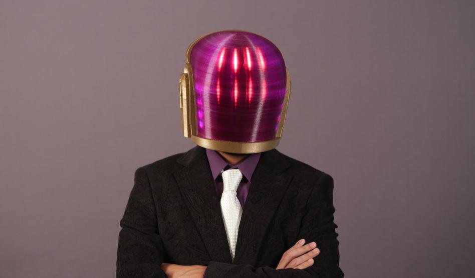 3d Printed Daft Punk Helmet Plastic After All