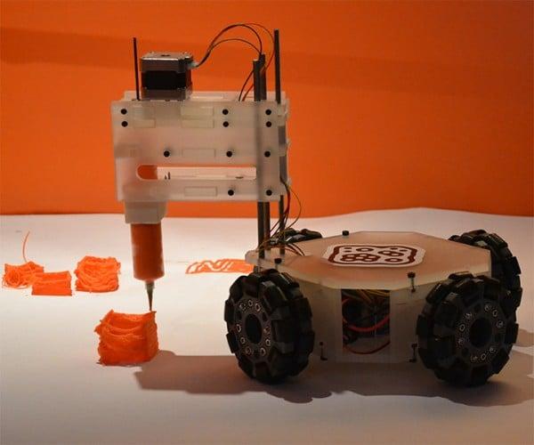 3&DBot Robot 3D Printer: The World is Your Build Platform
