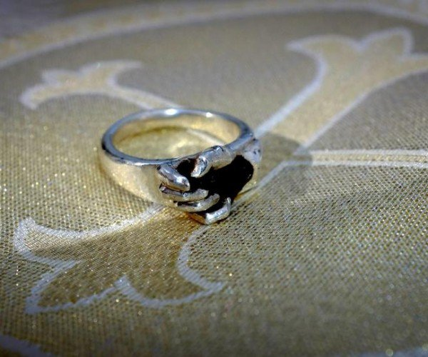 Wedding Ring Has a Piece of the Moon in It