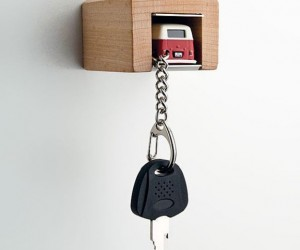 This Mini Car Garage is Where You're Supposed to Park Your Keys