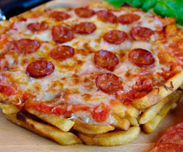 Pizza With French Fry Dough (and a Side of Cholesterol)