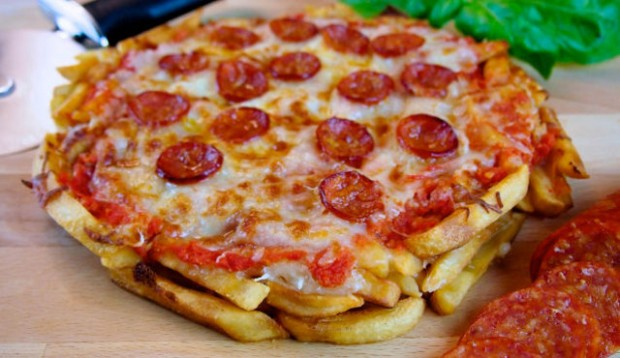Pizza With French Fry Dough