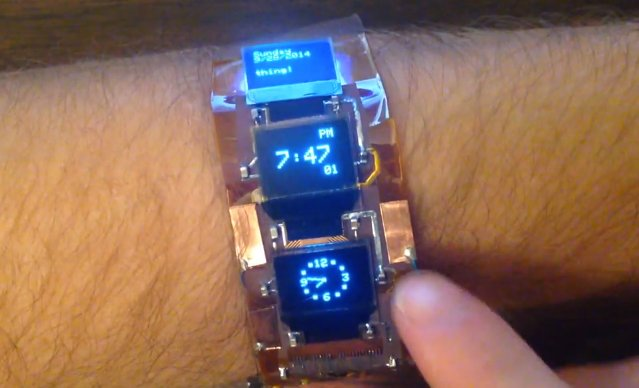 Arduino powered bracelet can be used as a smartwatch