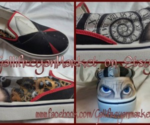 Doctor Who Custom Hand Painted 12th Doctor Vans: Doctor Shoe