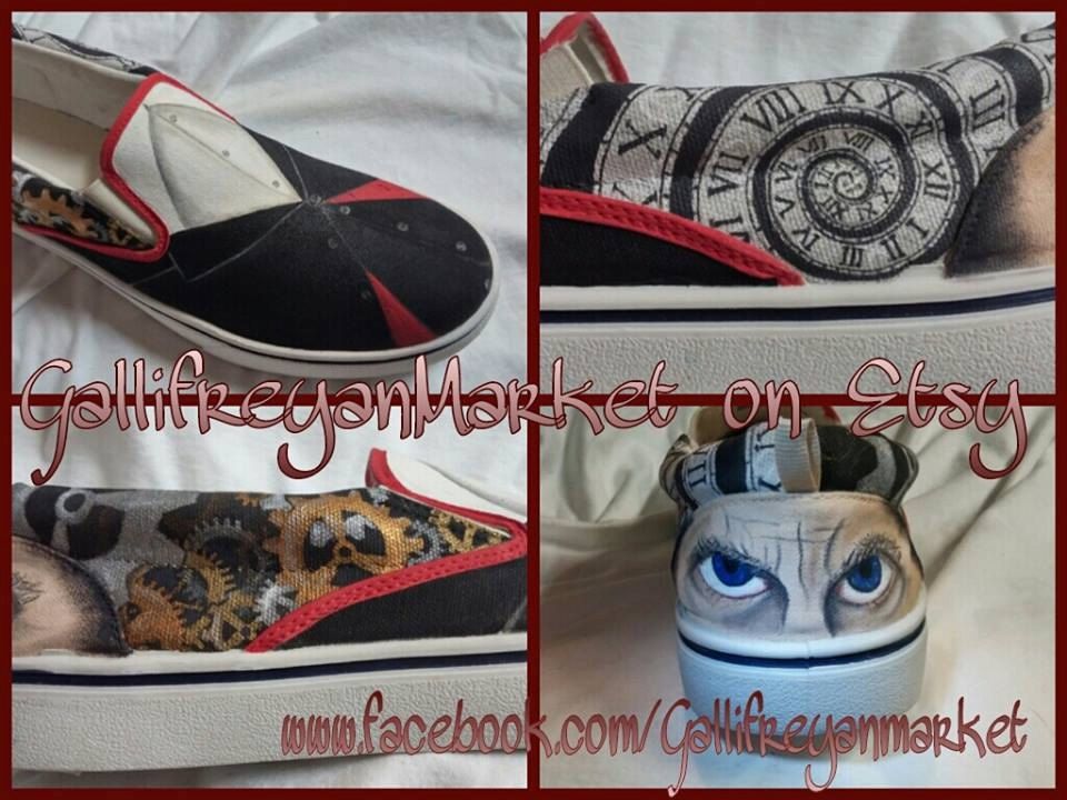 8f5e044952 Doctor Who Custom Hand Painted 12th Doctor Vans  Doctor Shoe