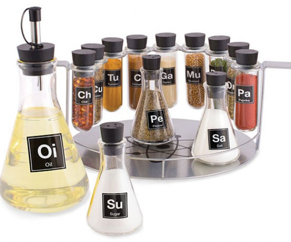 Chemist's Spice Rack is Perfect for Mad Scientist Cooks