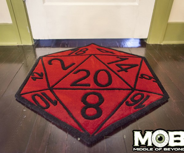 Critical Hit D20 Rug: Saving Throw Rug