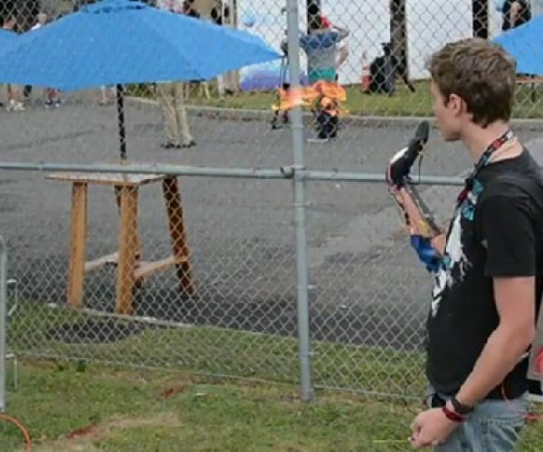 Wrist-mounted Flamethrower Shows up at Maker Faire