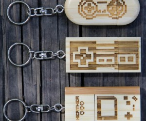 Wood Gamer Flash Drive Keychains