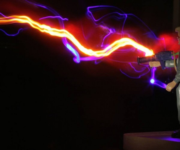Proton Streams from Ghostbusters Recreated Using Light Painting Techniques