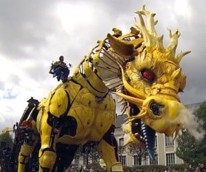 Giant Walking Dragon Invades France
