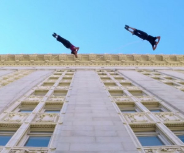 Two Dancers Just Pwned Gravity by Suspending Themselves from a Building
