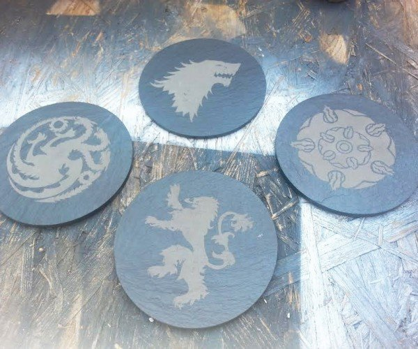 Game Of Thrones Slate Coasters: Game of Stone