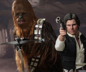 Han Solo and Chewbacca Action Figures from Hot Toys
