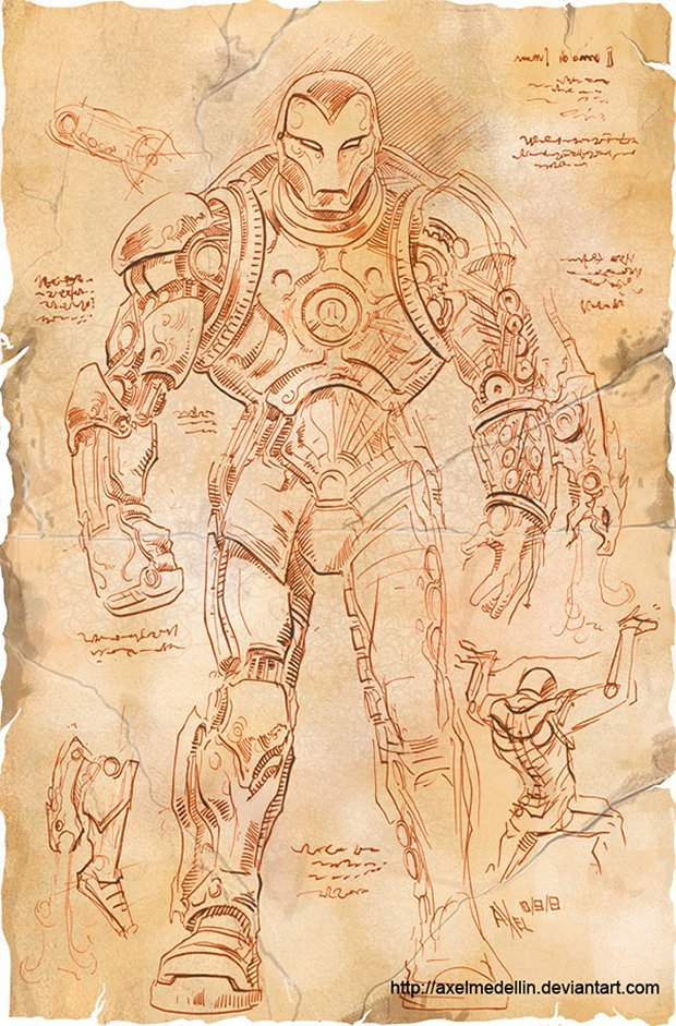 If Iron Man Was Drawn By Leonardo Da Vinci Technabob