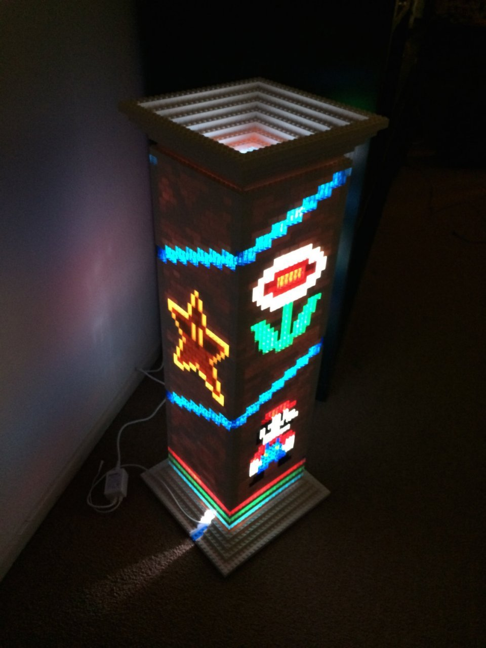 Mario Brothers Lego Lamp Is A Classy Gamer Night Light