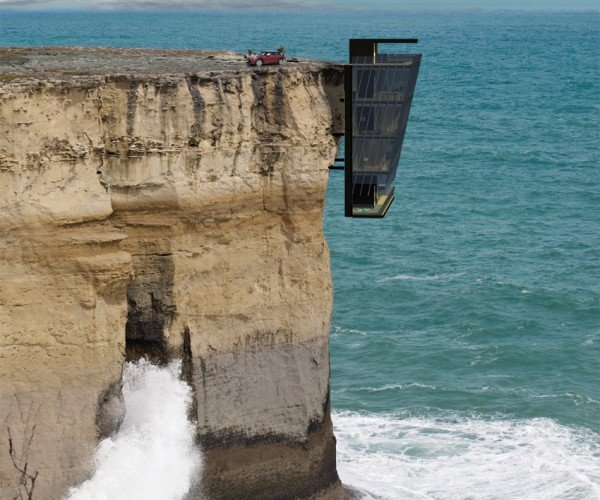 This Dangling, Cantilevered House Is Both Awesome and Terrifying