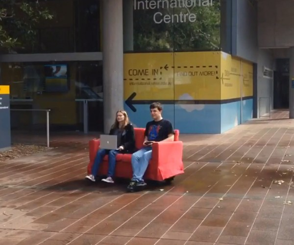 DIY Motorized Omnidirectional Robot Couch: I'd Buy That for a Dollar!