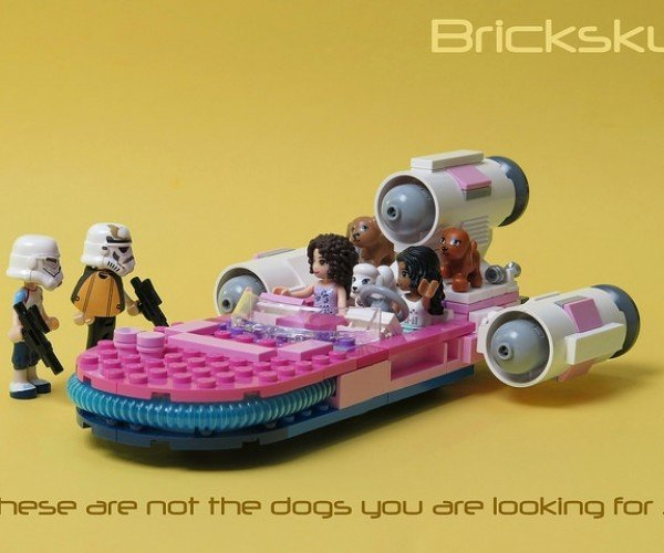 Pink LEGO Landspeeder: These Aren't the Puppy Dogs You're Looking for
