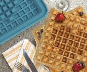 Pixel Waffle Iron Concept: 8-bite