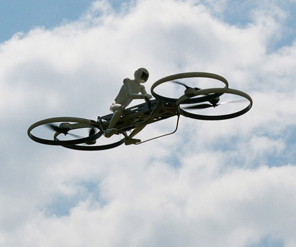 Robot Rides Hoverbike, We're All Doomed
