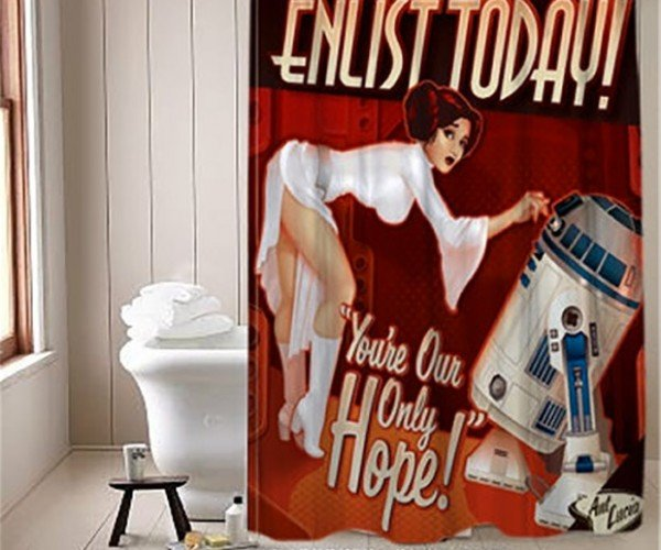 Star Wars Propaganda Shower Curtain