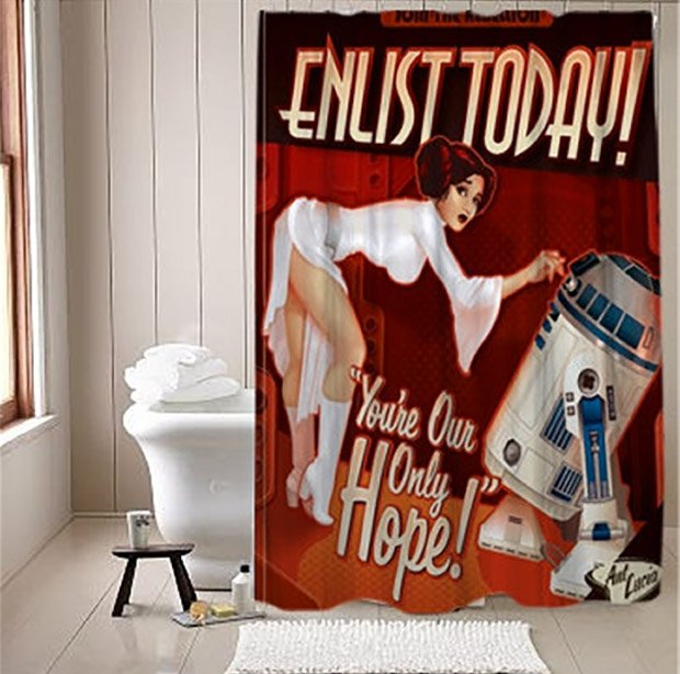 Star Wars Propaganda Shower Curtain