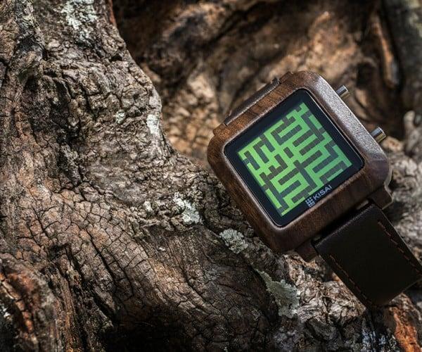 Tokyoflash Kisai Maze Wood Watch Helps You Burn Some Time