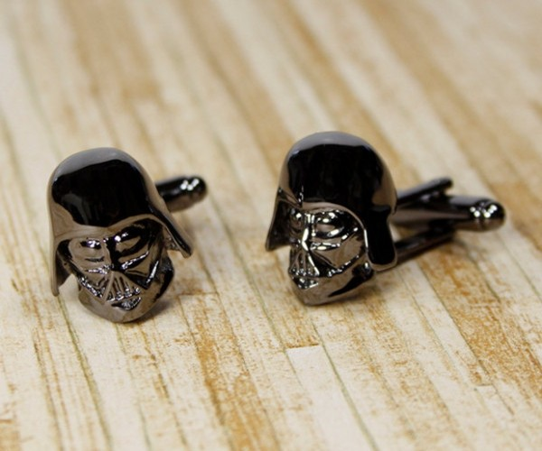 Darth Vader Cufflinks: The Dark Side of the Sleeve